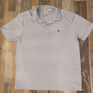 Men's XL volcom gray polo